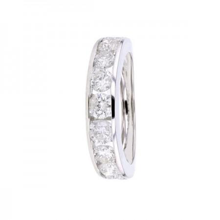 Demi-alliance rail diamants éco en or blanc 18 carats - Victoria