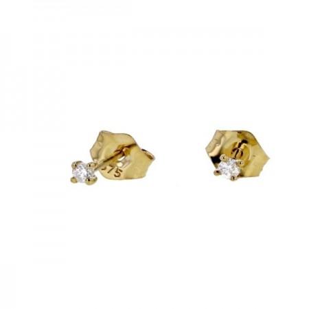 """Boucles d'oreilles puces """"Light""""   en or jaune 9 carats - Germinia"""