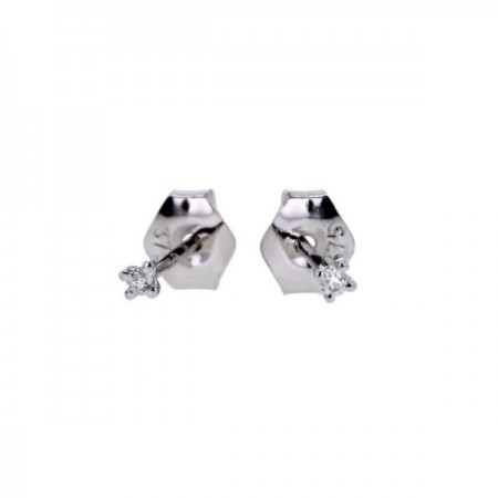 "Boucles d'oreilles puces ""Light""   en or blanc 9 carats - Germinia"