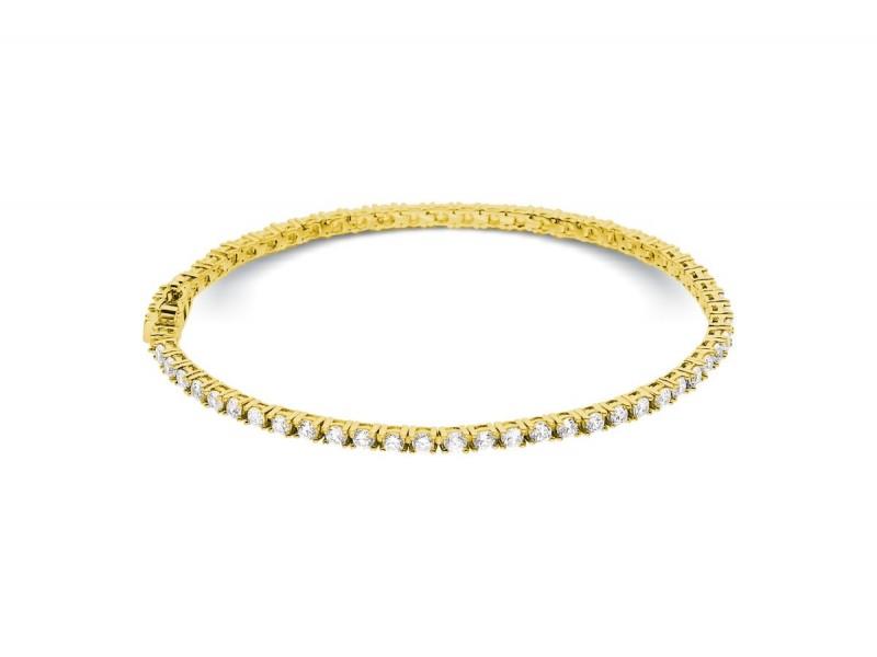 Bracelet riviere de diamants 4 griffes en or jaune 18 carats - Dacha