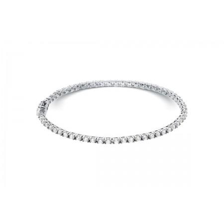 Bracelet riviere de diamants 4 griffes en or blanc 18 carats - Dacha