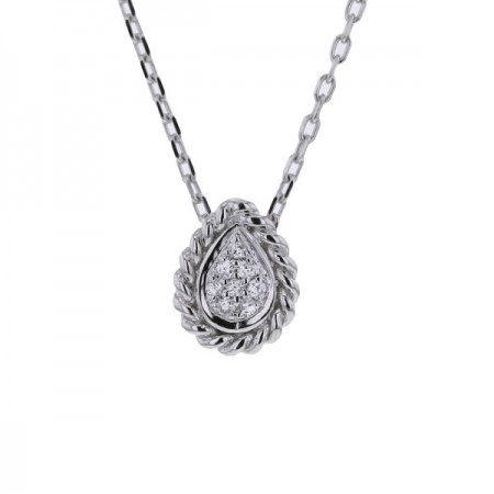 Collier multi-pierres diamants  en or blanc 9 carats - Vienna
