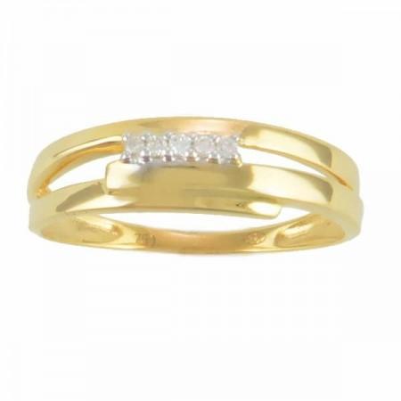 Bague diamants  en or jaune - Yeuna