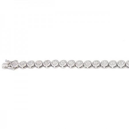 Bracelet argent tennis 19 CM  en argent - Saundra