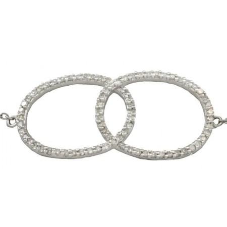 Bracelet Insolence diamants en or blanc 9 carats - Stella