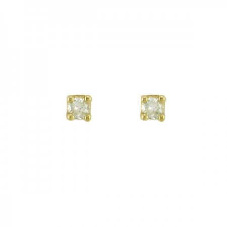 "Boucles d'oreilles puces ""Light""  en or jaune 9 carats - Germinia"