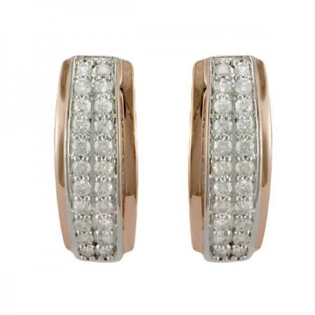 Boucles d'oreilles pavé diamants en or blanc 9 carats - Giuliette