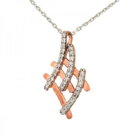 Collier Insolence diamants  en or blanc 9 carats - Giana