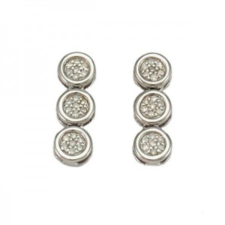 Boucles d'oreilles pneus  en argent - Guéona