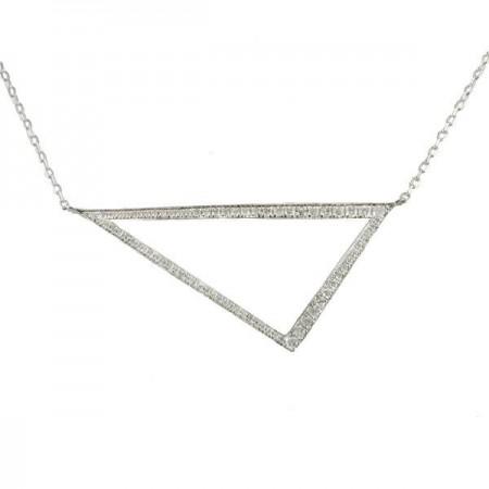 Collier multi-pierres diamants  en or blanc 9 carats - Osaka