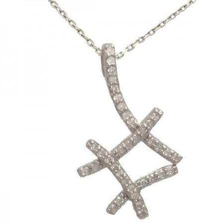 Collier Insolence diamants  en or blanc 9 carats - Gaya