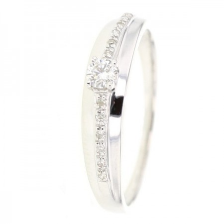 Bague diamants  en or blanc 9 carats - Kitty
