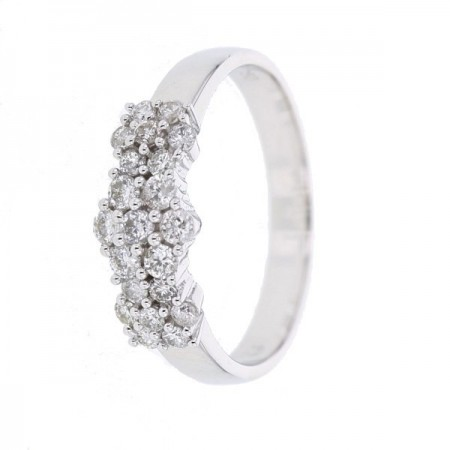 Bague 3 choux diamants   en or blanc 18 carats - Eirwen