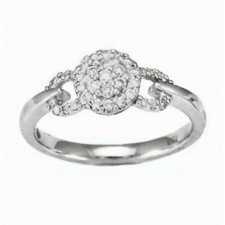 Bague empire diamantées  en or blanc 18 carats - Miroslava