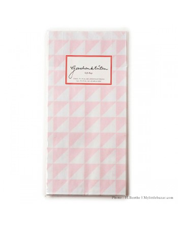 Pochettes cadeaux triangles roses