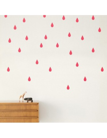 Stickers gouttes roses Ferm living