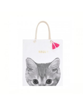 Rose in April totebag bisou mon petit chat