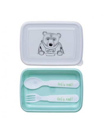 Bloomingville Lunch box ours mint