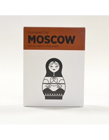 Crumpled city Moscou map