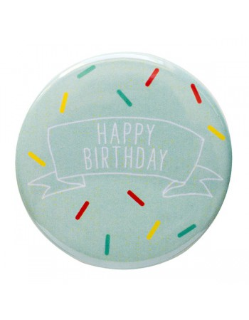 Badge anniversaire Happy Birthday